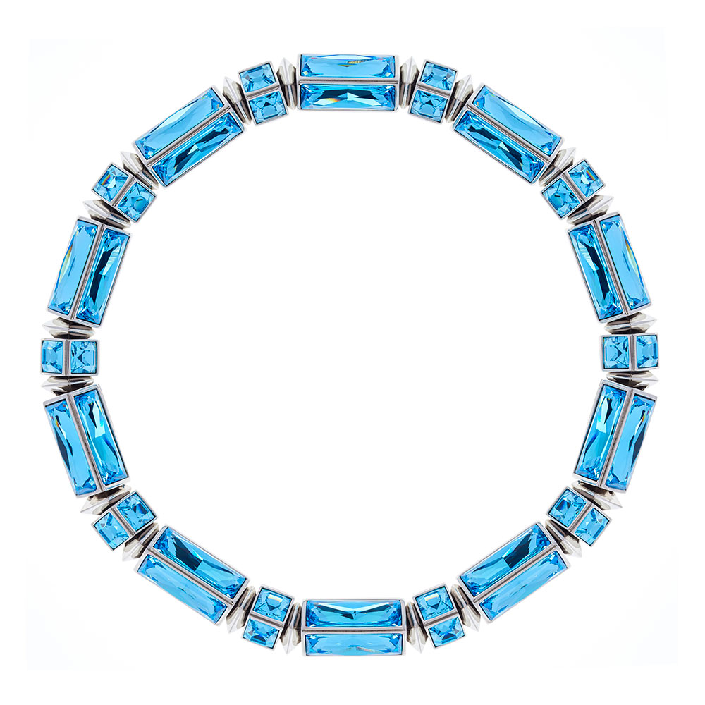 Hannah Baguette Necklace - Aquamarine