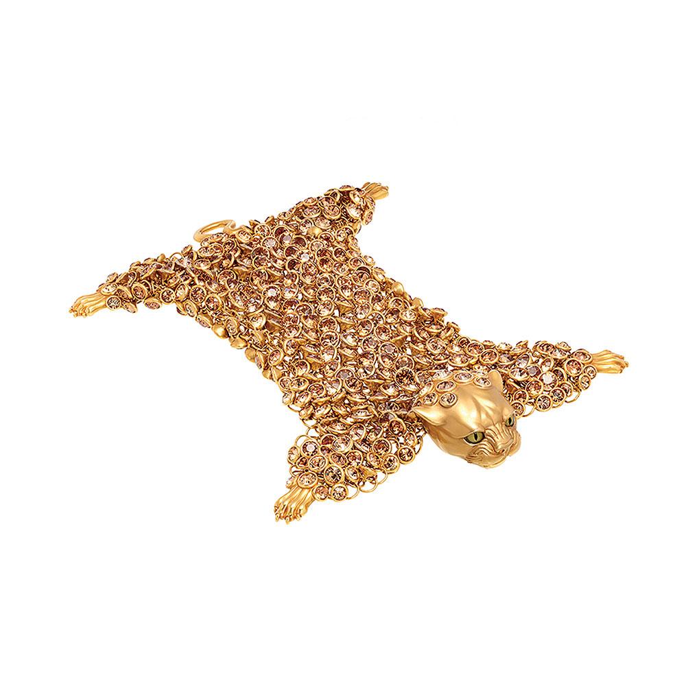 Dionysus Leopard Bracelet - Gold - Large