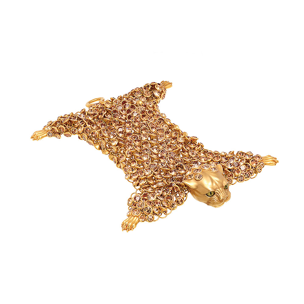Dionysus Leopard Bracelet - Gold - Small