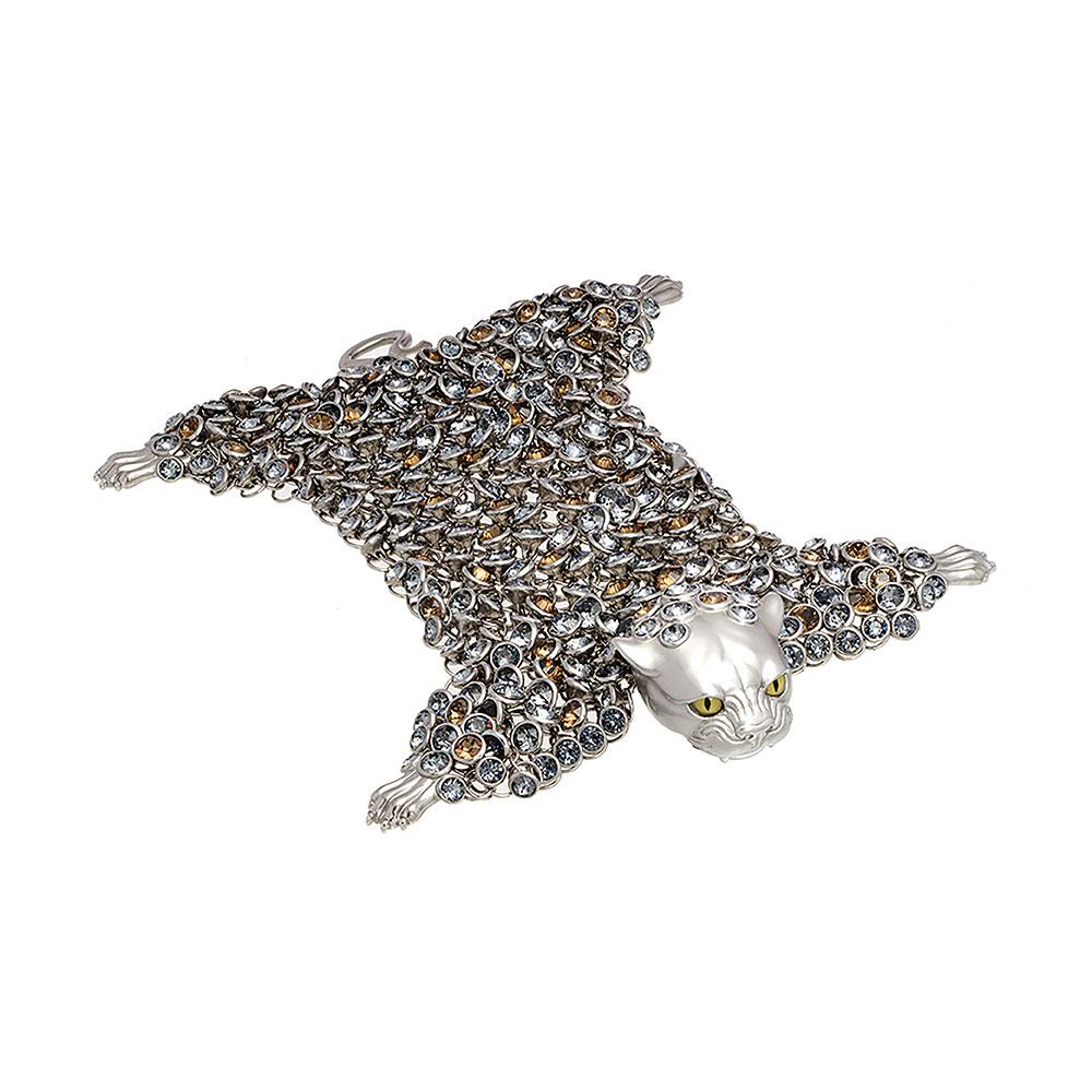 Dionysus Leopard Bracelet - Silver - Large