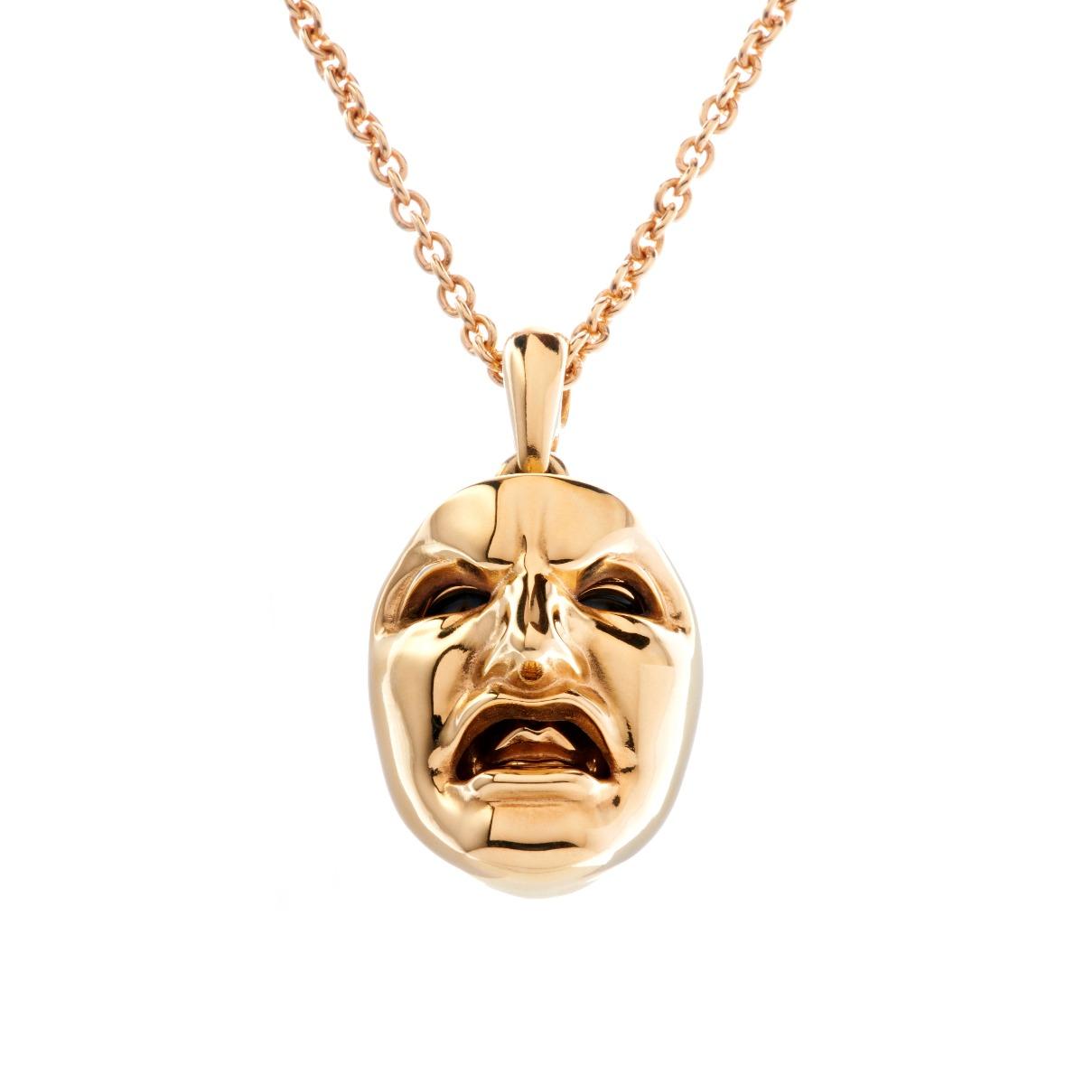 Dionysus Man Pendant - Gold
