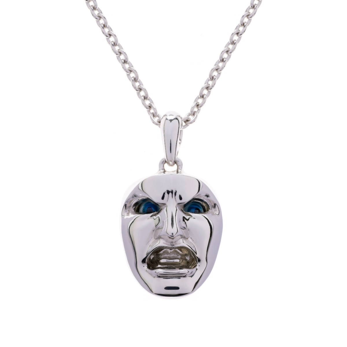 Dionysus Man Pendant - Silver