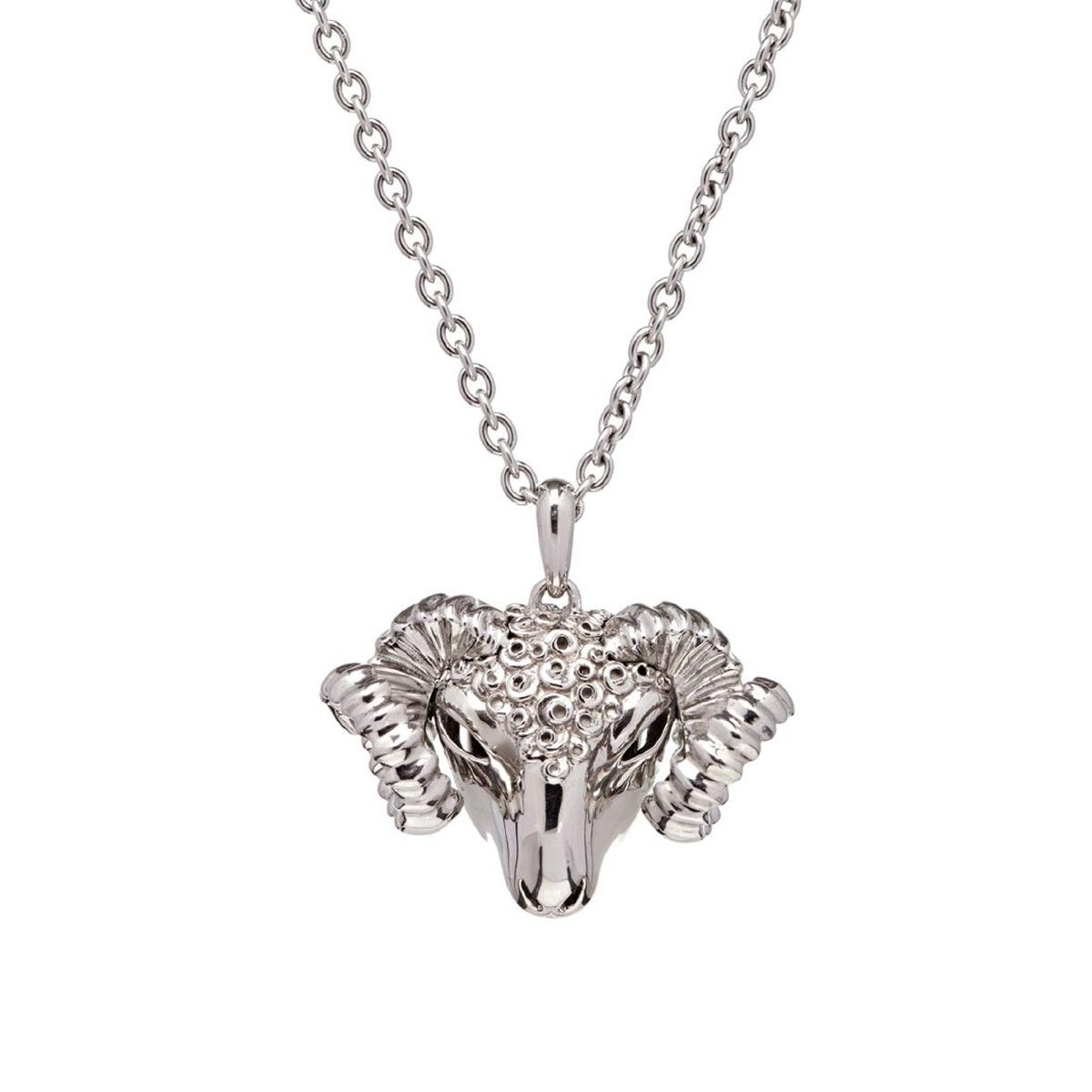 Dionysus Ram Pendant - Silver