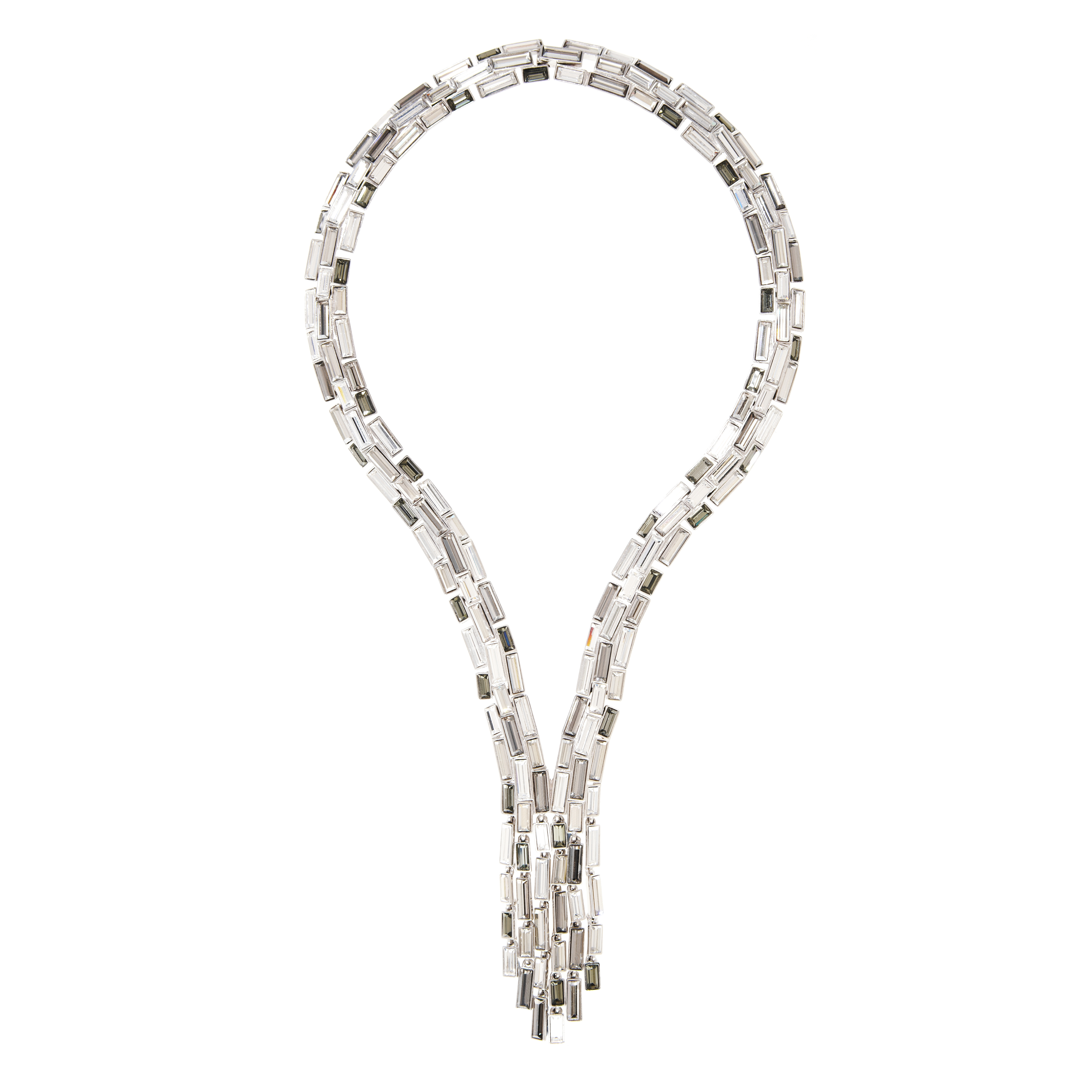 Caddis Multi Baguette Cascade Necklace