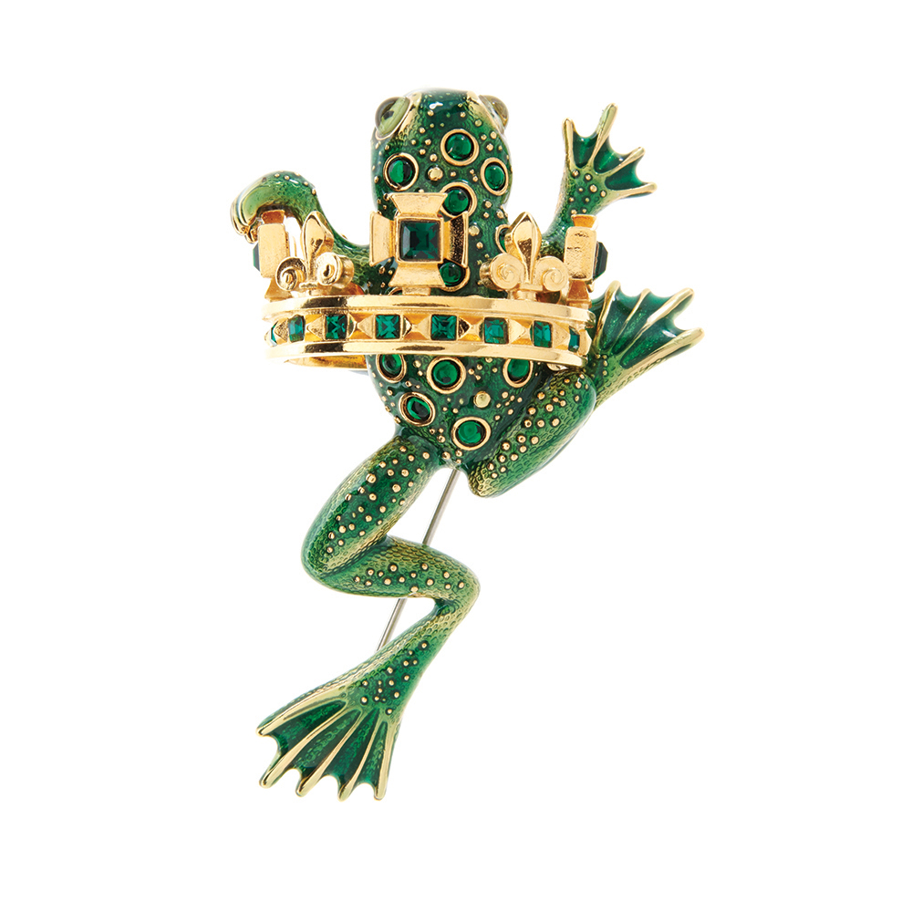 Frog Prince Brooch - Green