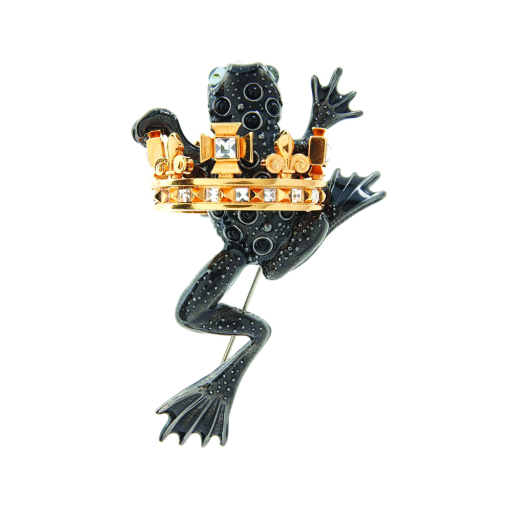 Frog Prince Brooch - Black