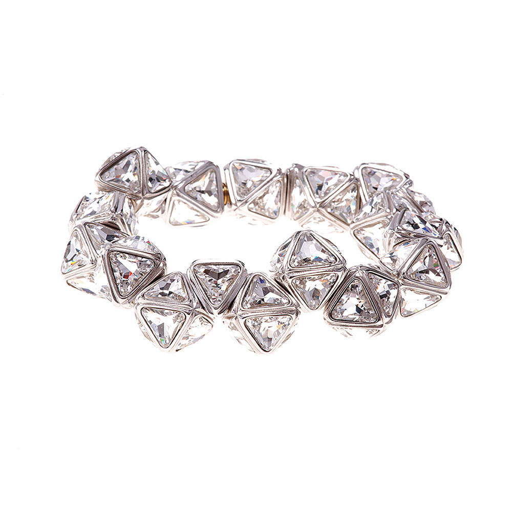 Ice Flow Crystal Pyramid Bracelet