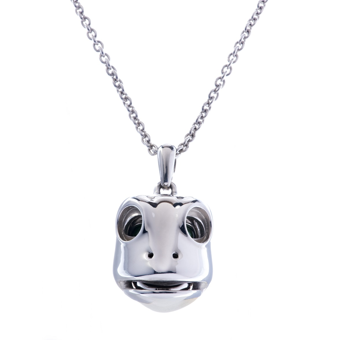 Dionysus Frog Pendant - Silver