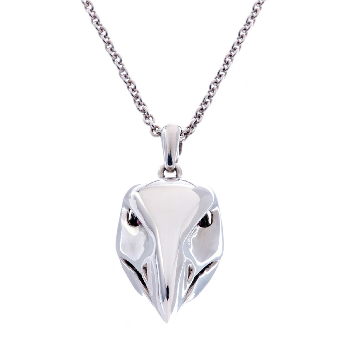 Dionysus Falcon Pendant - Silver