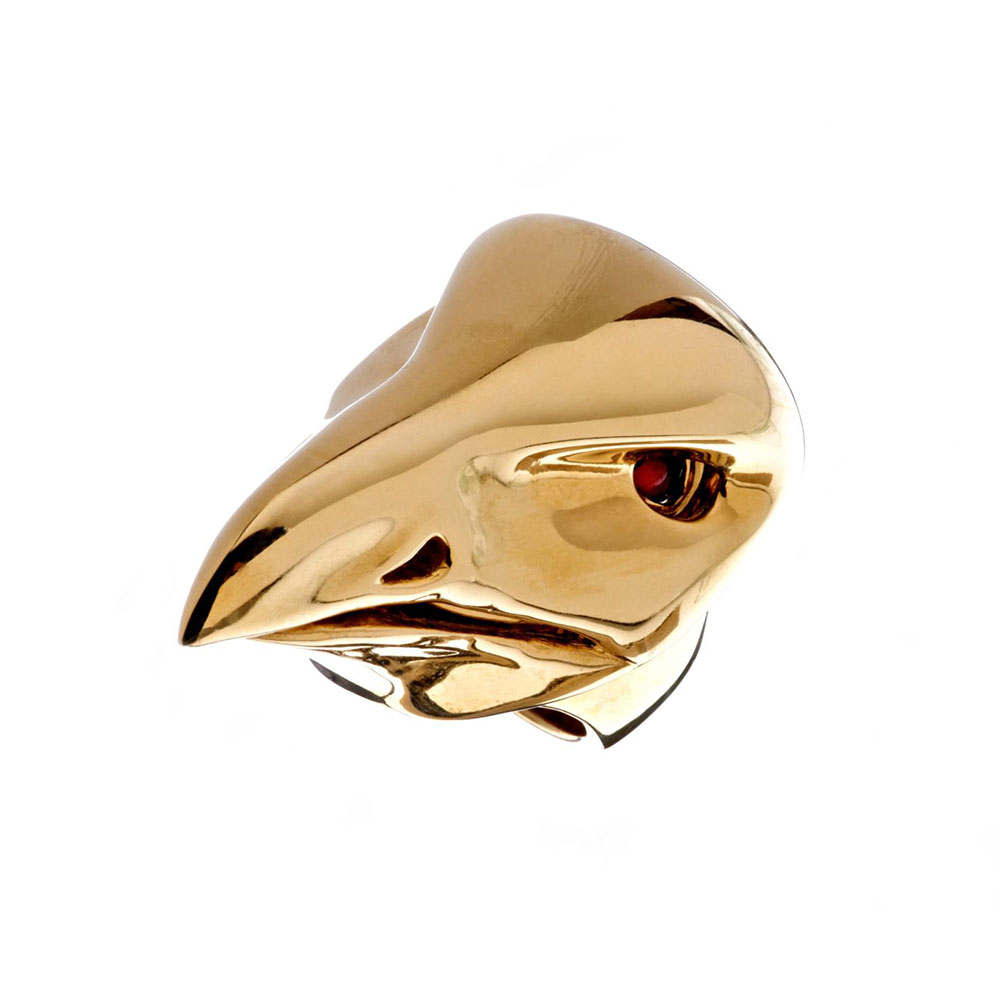 Dionysus Falcon Ring - Gold - Medium