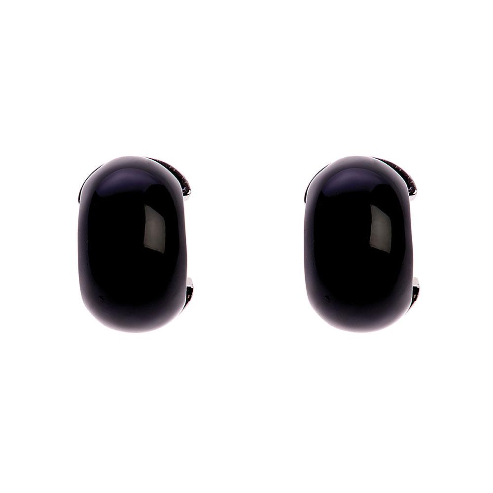 Maia Stainless Steel Hoop Earring - Black