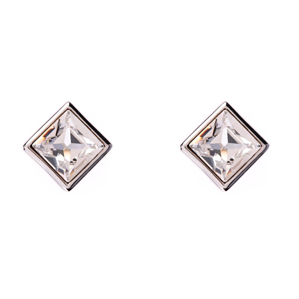 Claudette Square Crystal Stud Earrings