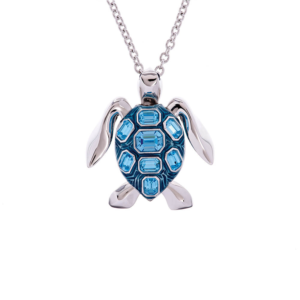 Mock Turtle Small Pendant - Blue