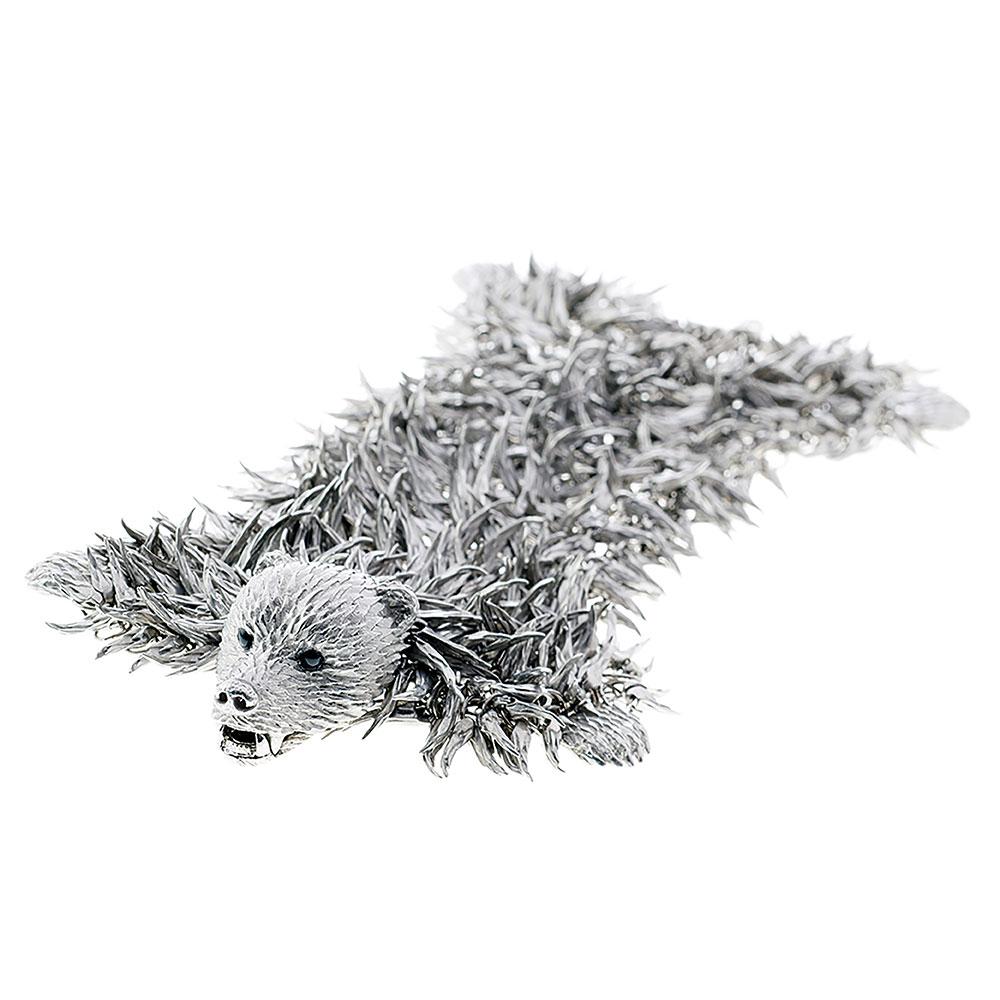 Dionysus Bear Bracelet - Silver - Small
