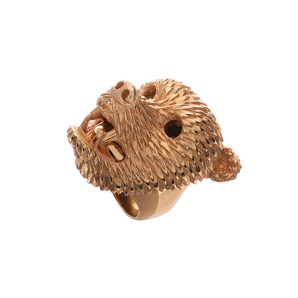 Dionysus Bear Ring - Gold - Medium