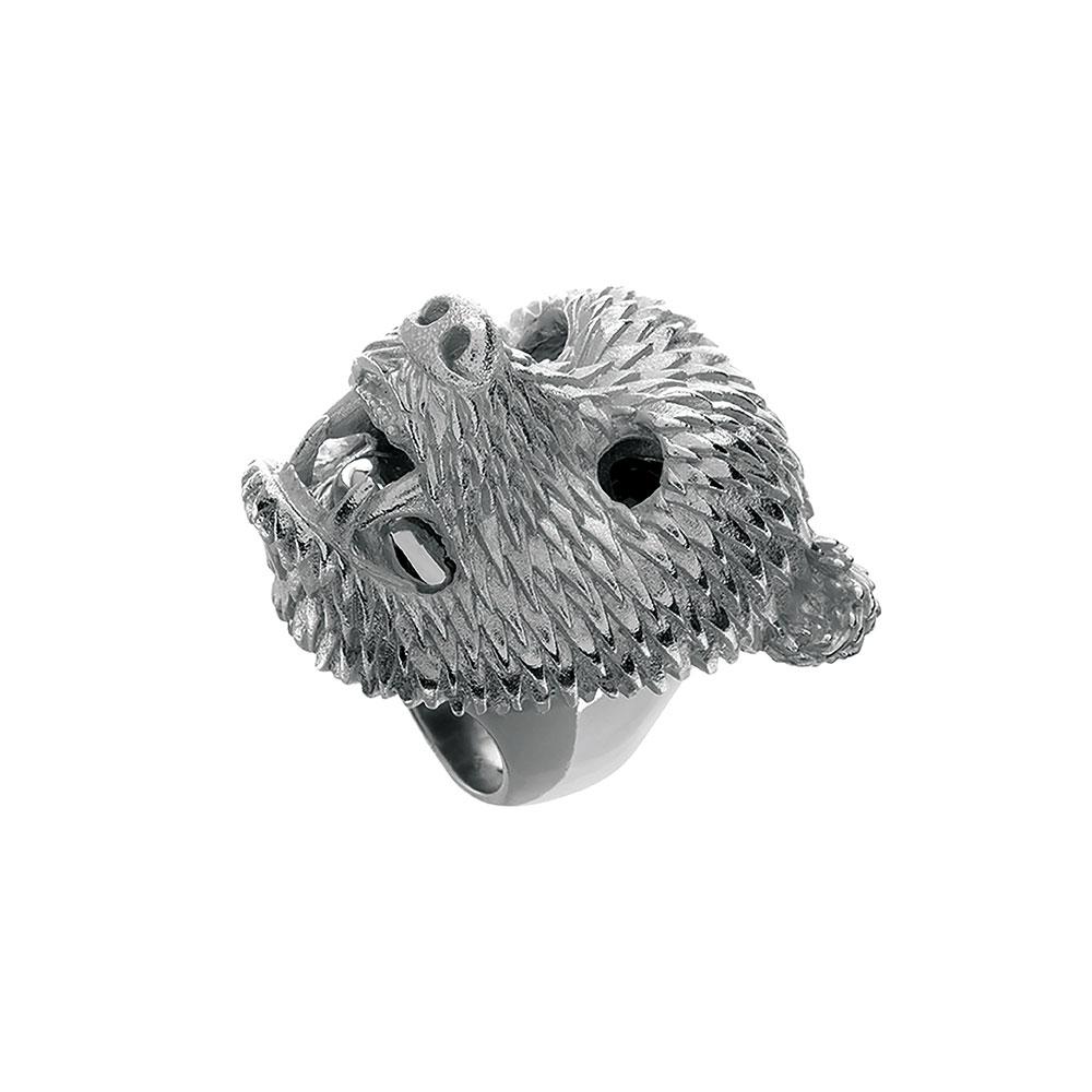 Dionysus Bear Ring - Silver - Large