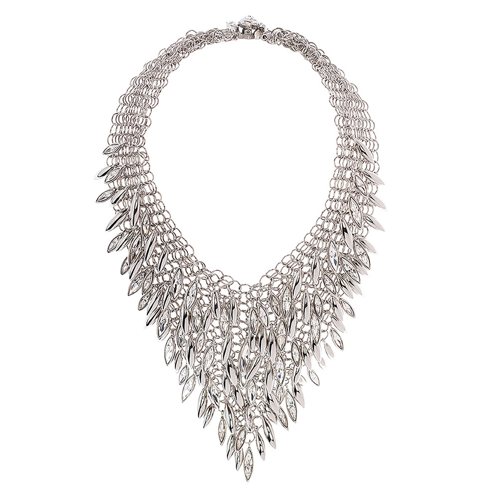 Minerva Clustered Navette Chainmail Necklace - Medium