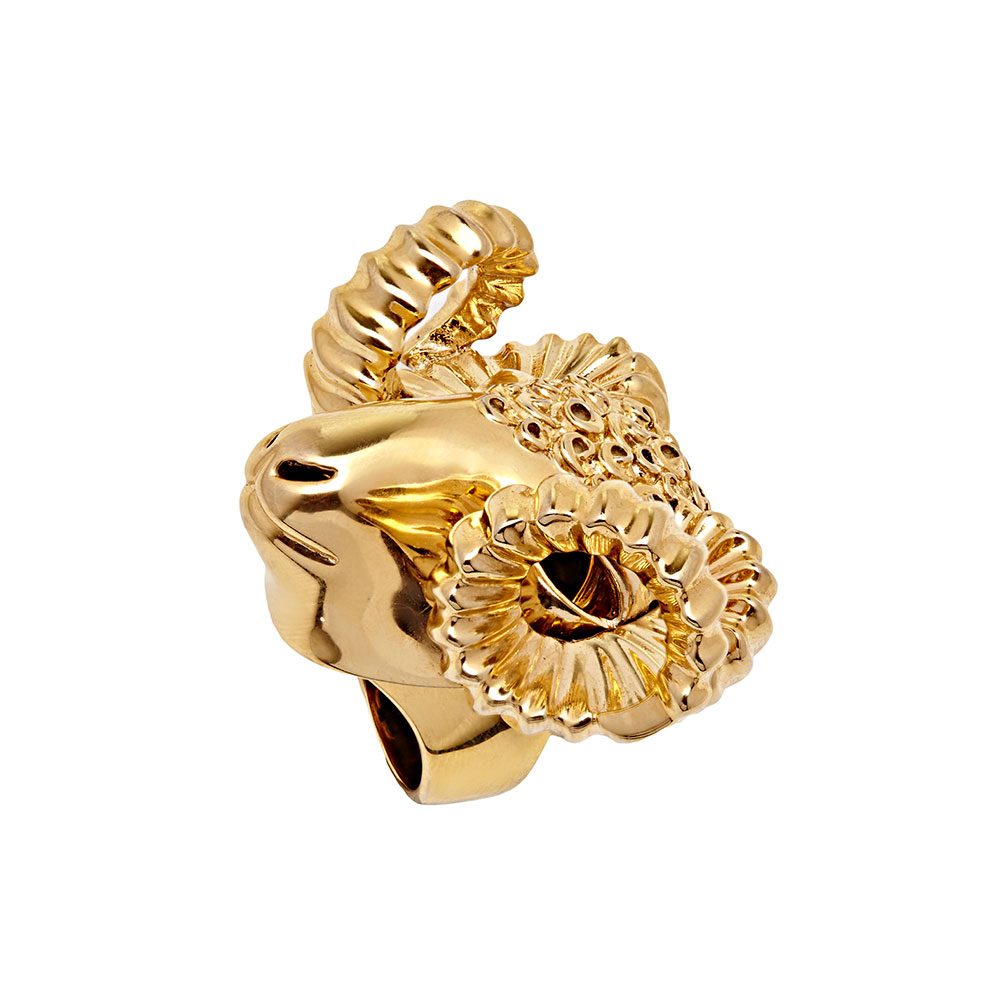 Dionysus Ram Ring - Gold - Medium