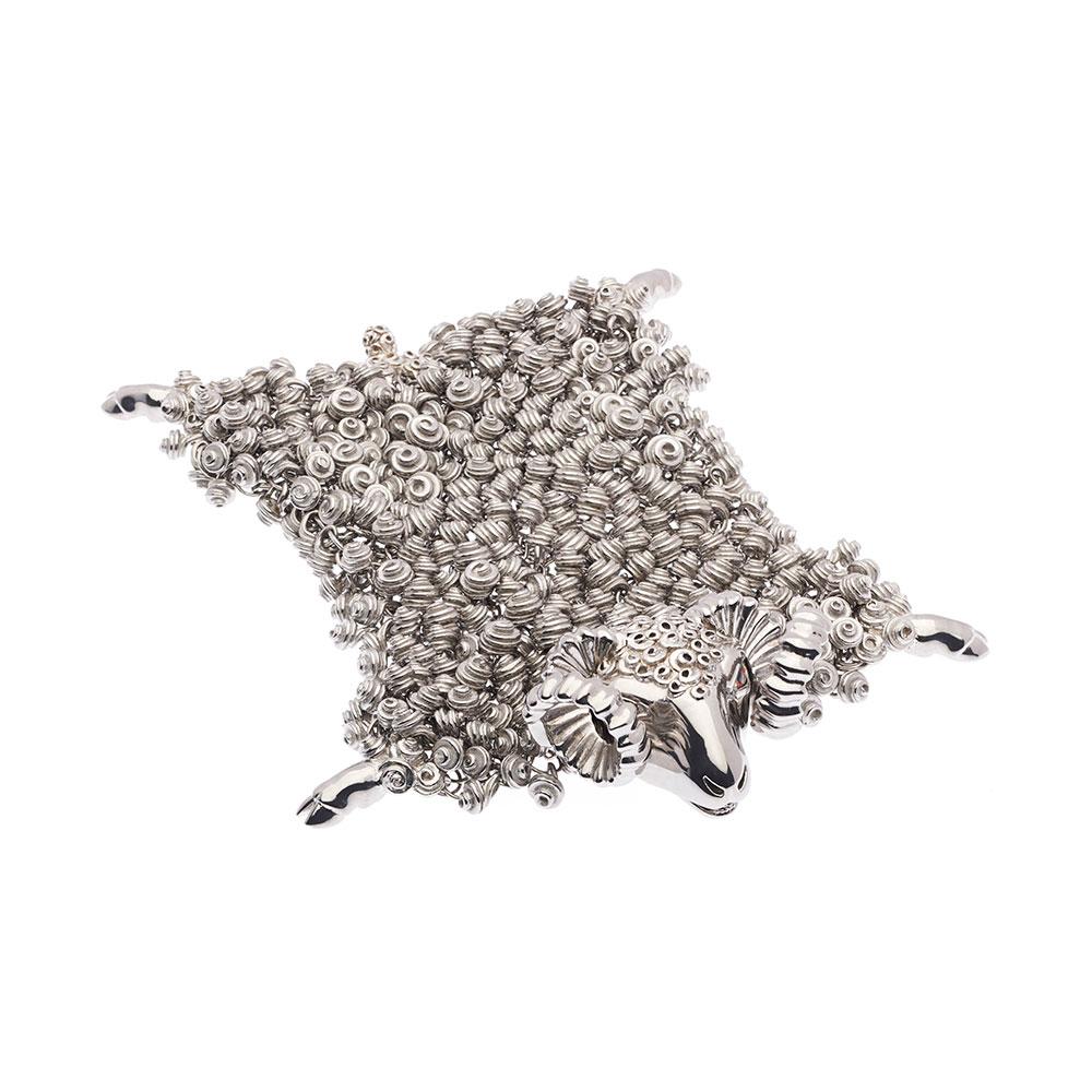 Dionysus Ram Bracelet - Silver - Medium