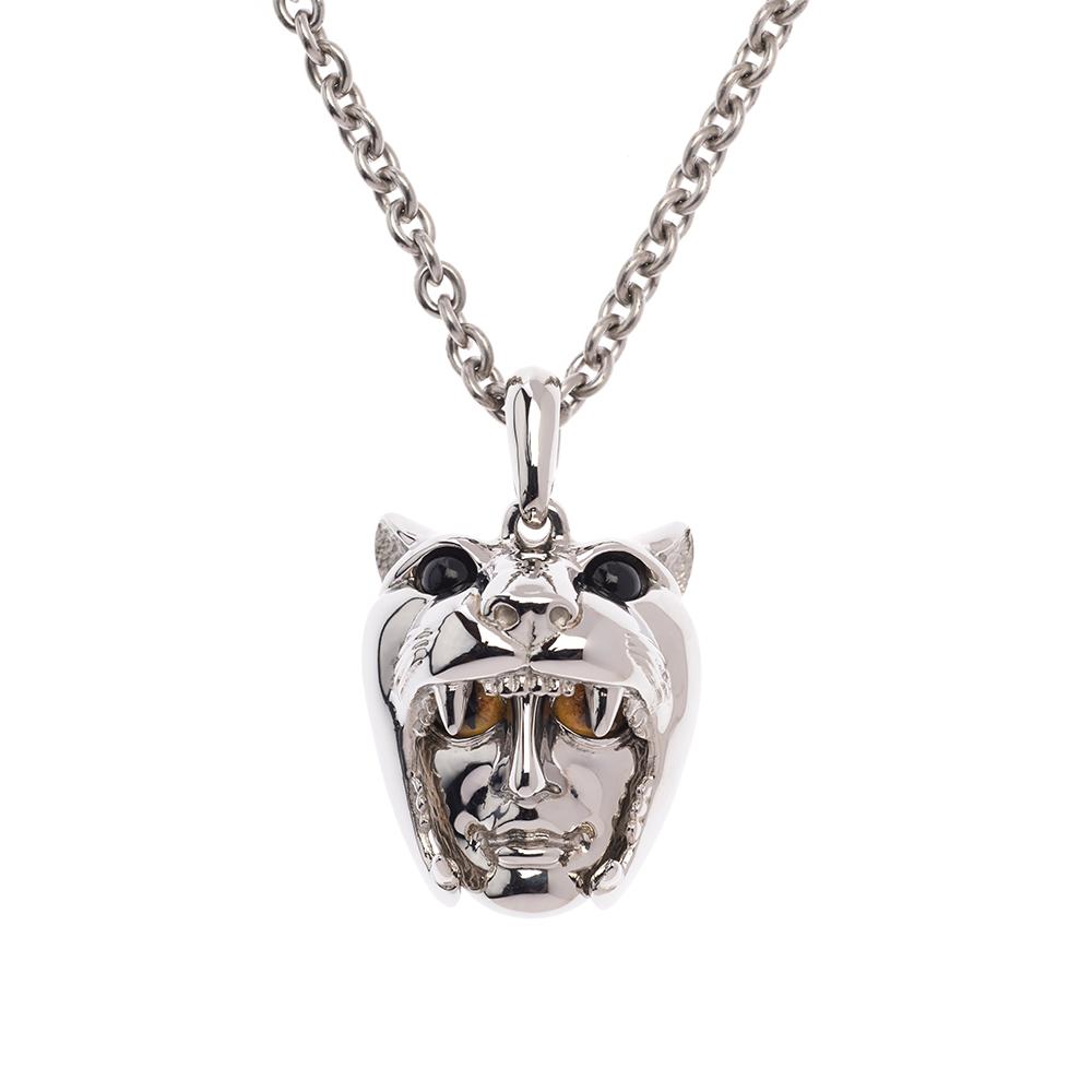 Dionysus Leopard Pendant - Silver