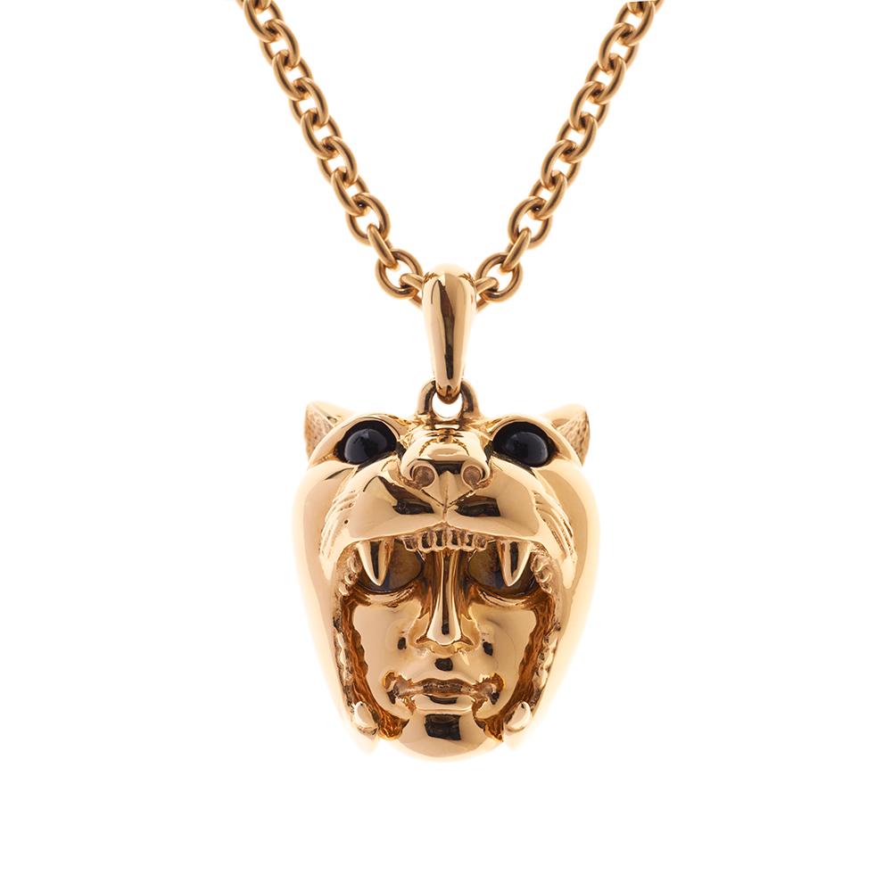 Dionysus Leopard Pendant - Gold