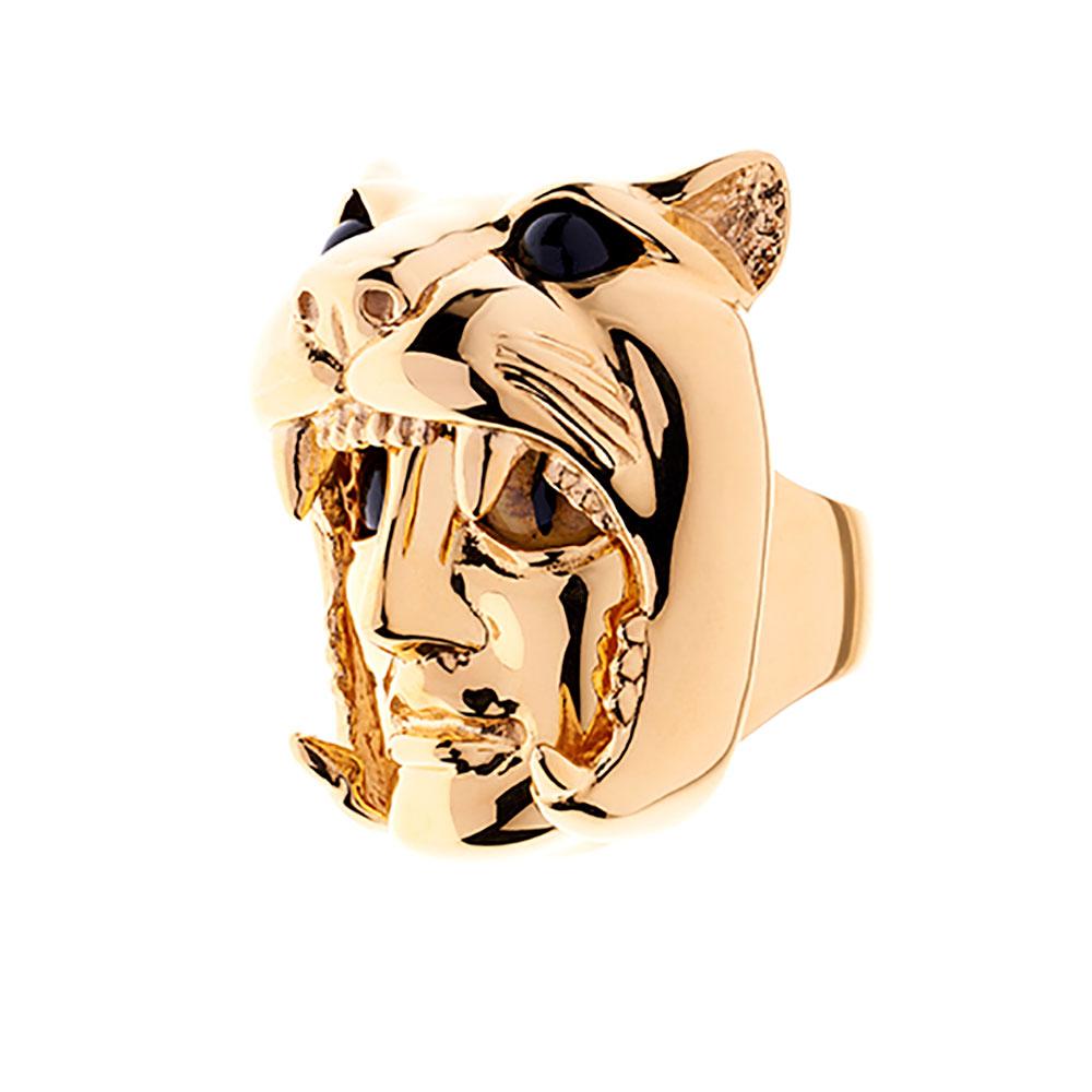 Dionysus Leopard Ring - Gold - Medium