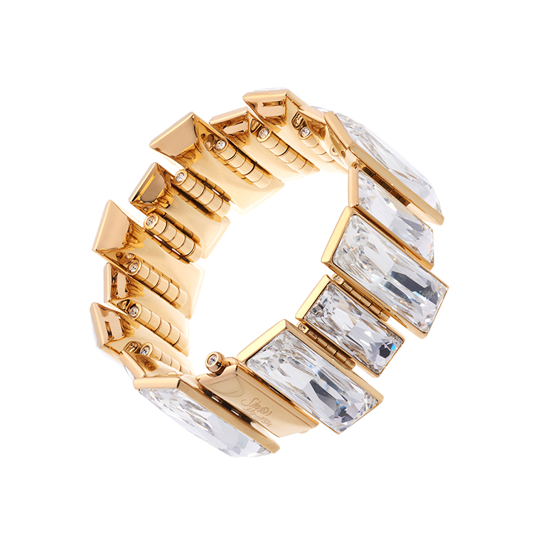 Gloria Crystal Bracelet Gold - Medium