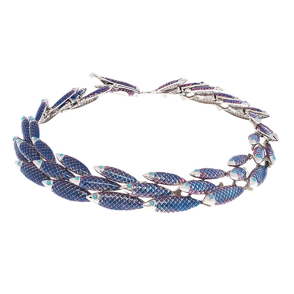 Electra Necklace - Blue - Medium