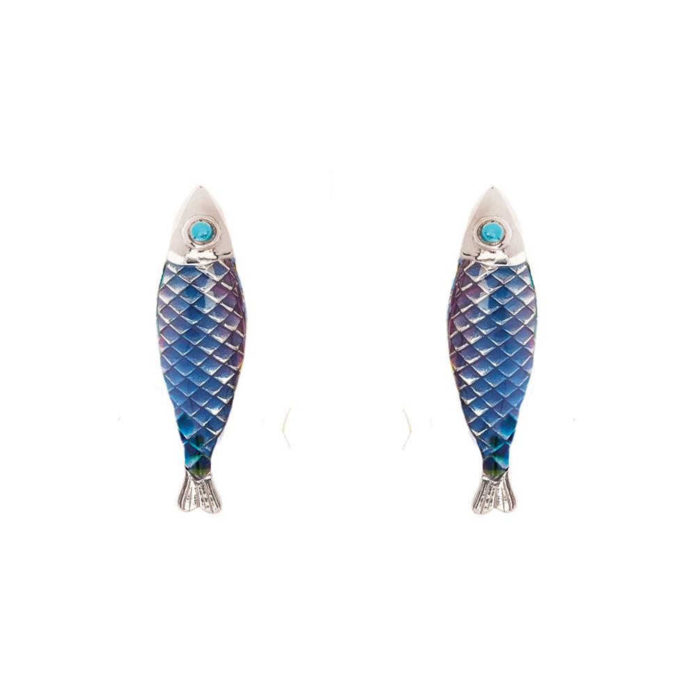 Electra Stud Earring - Blue