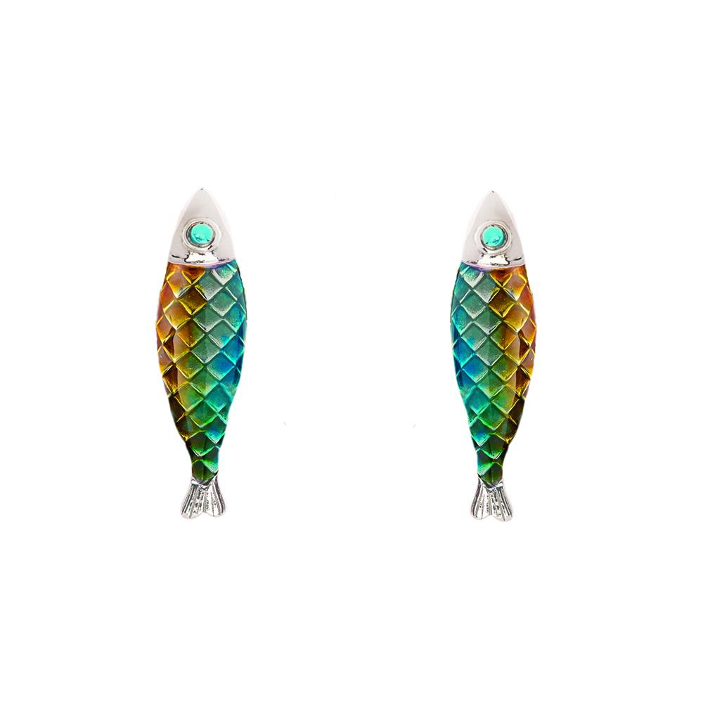 Electra Stud Earring - Green