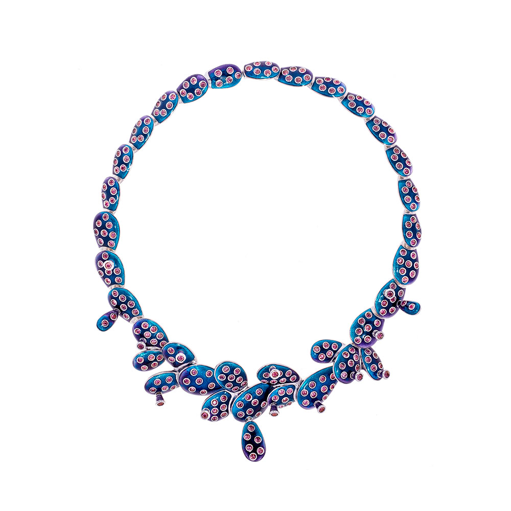 Kahlo Necklace - Blue - Medium