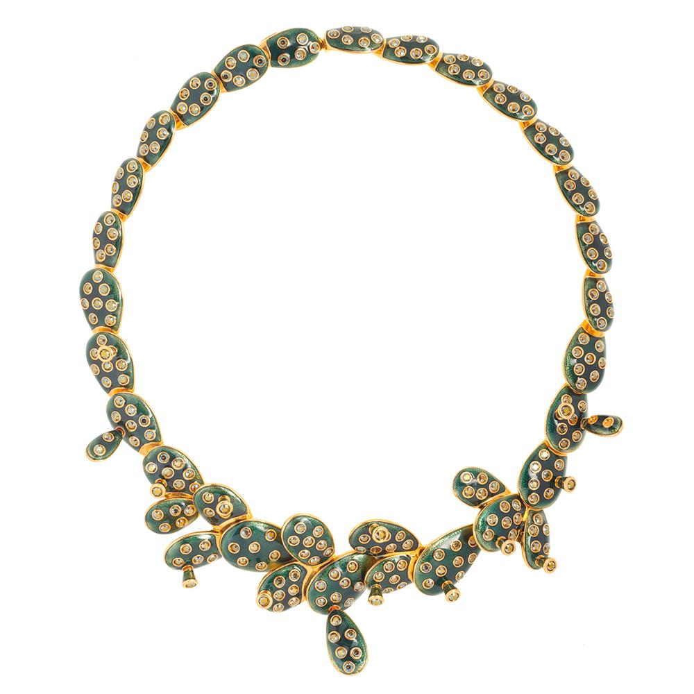 Kahlo Necklace - Green - Medium