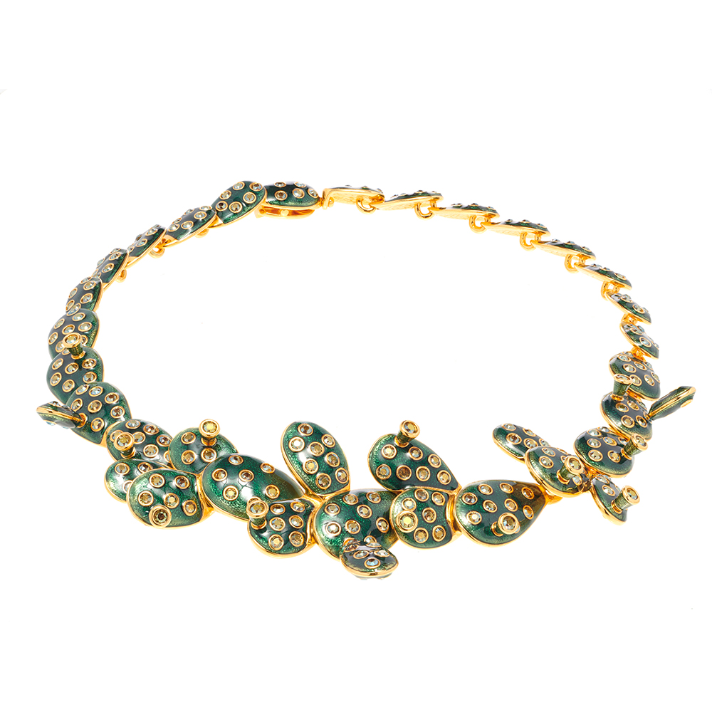 Kahlo Necklace Green Medium