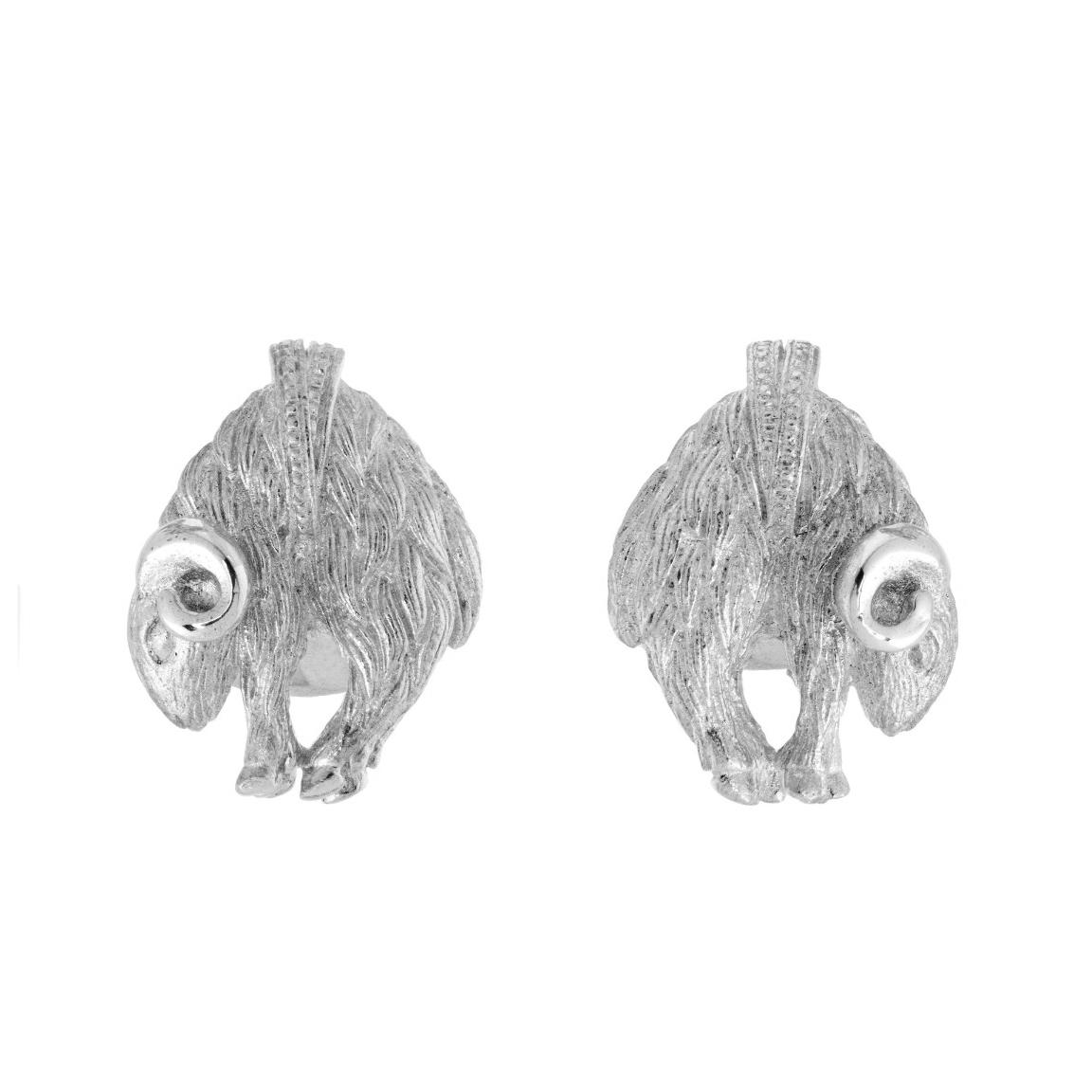 Chinese Zodiac Ram Cufflink