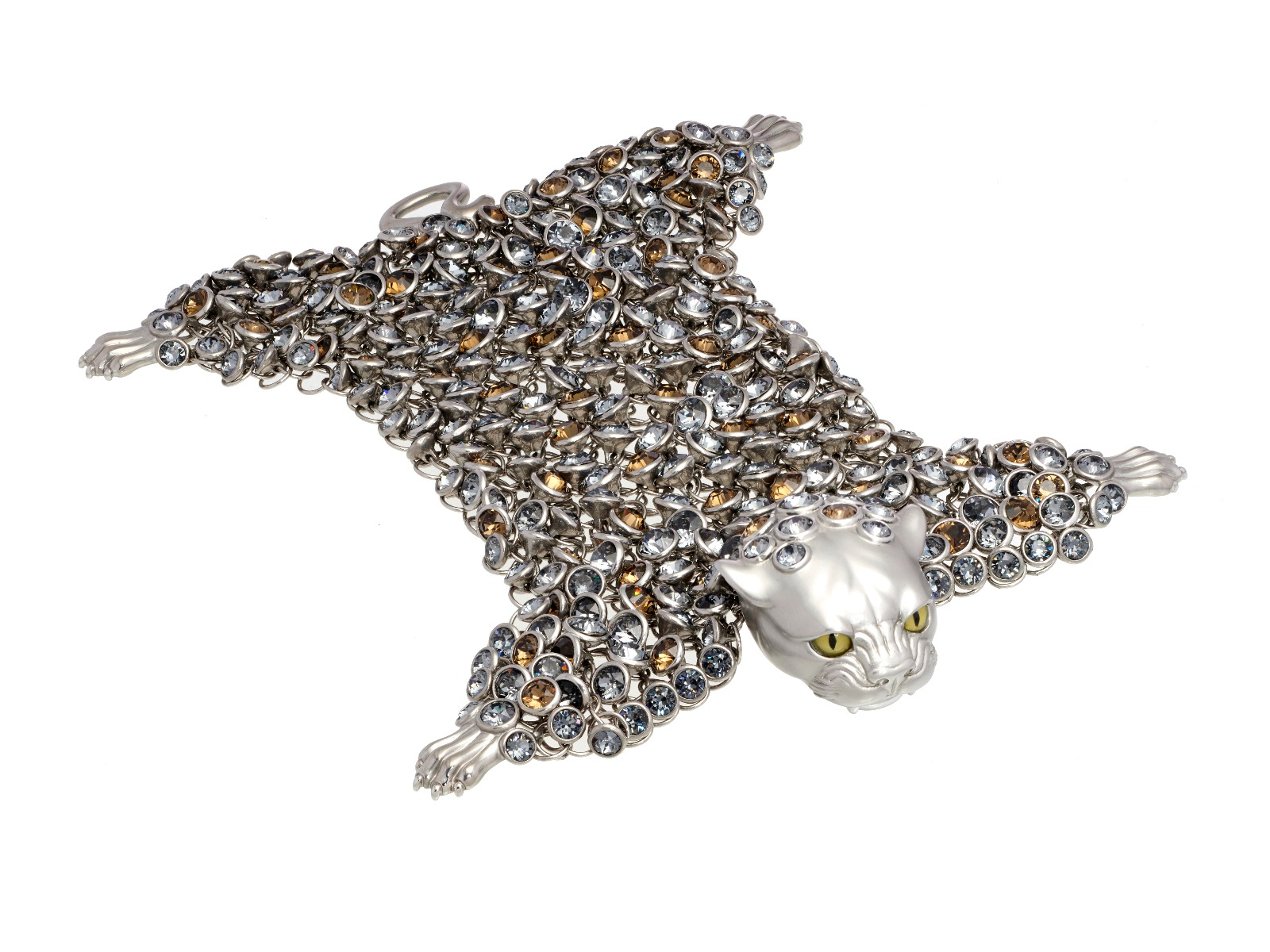Dionysus Leopard Bracelet - Silver - Medium