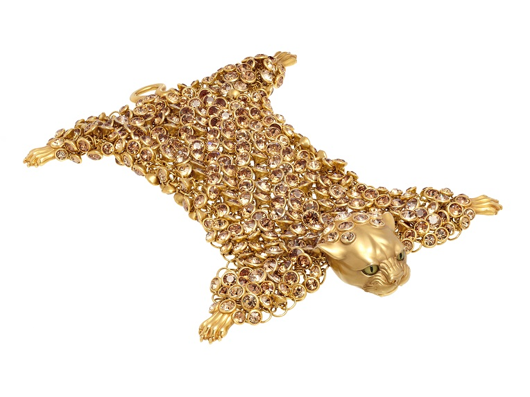 Dionysus Leopard Bracelet - Gold - Medium