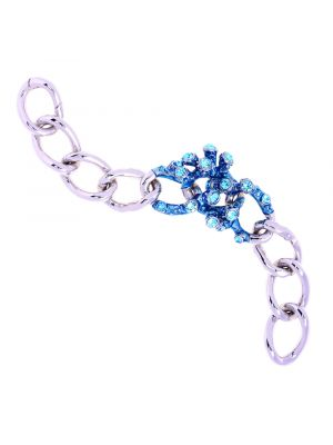 Coral Crystal And Enamel Chain Bracelet - Light Blue