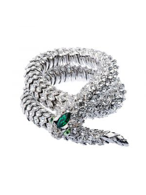 Crystal Snake Necklace - Green