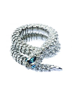 Crystal Snake Necklace - Blue