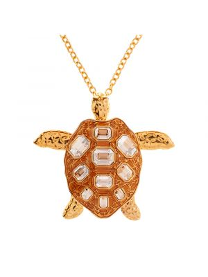Mock Turtle Pendant - Gold
