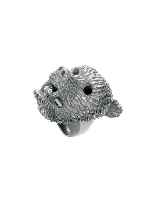 Dionysus Bear Ring Silver