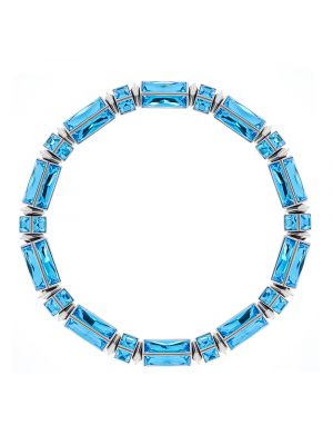 Hannah Baguette Necklace - Light Blue