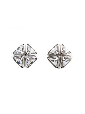 Ice Flow Crystal Clip Earrings