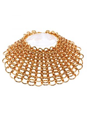 Joan Large Chain Mail Necklace - Gold