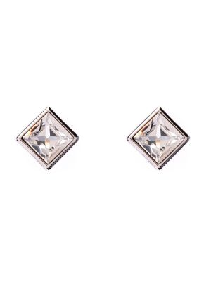 Claudette Square Crystal Stud Earring - Clear