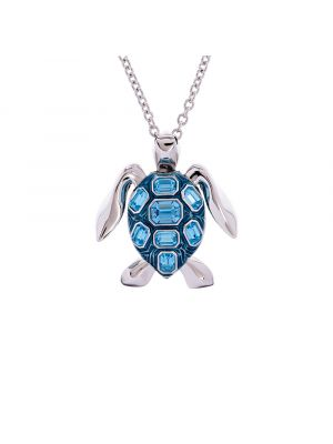 Mock Turtle Small Pendant - Blue