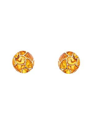 Leto Enamel Stud Earring - Yellow