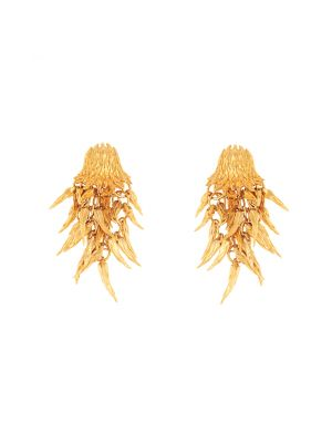 Dionysus Bear Drop Earrings - Gold