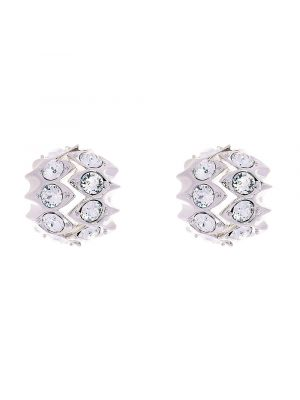 Crystal Snake Stud Earring - Clear