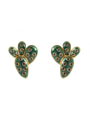Kahlo Clip Earrings Green